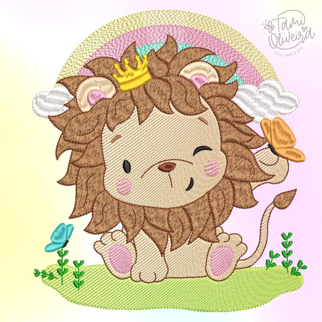 Matriz de Bordado - Leão Alegria