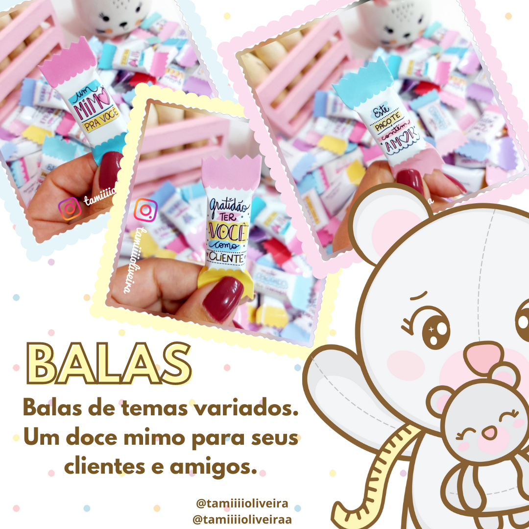 Balas - Produto Físico
