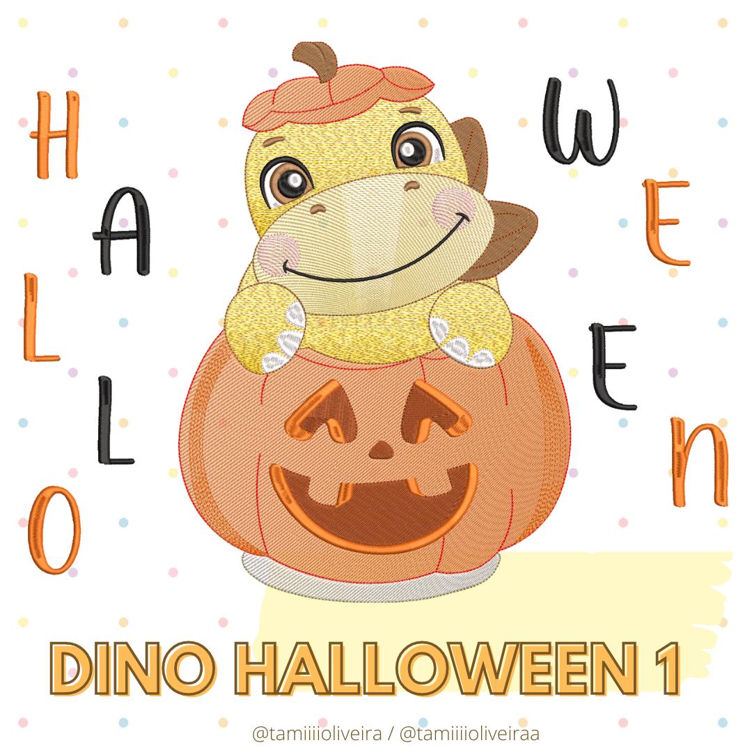 Matrizes de Bordado - Dino Halloween 1