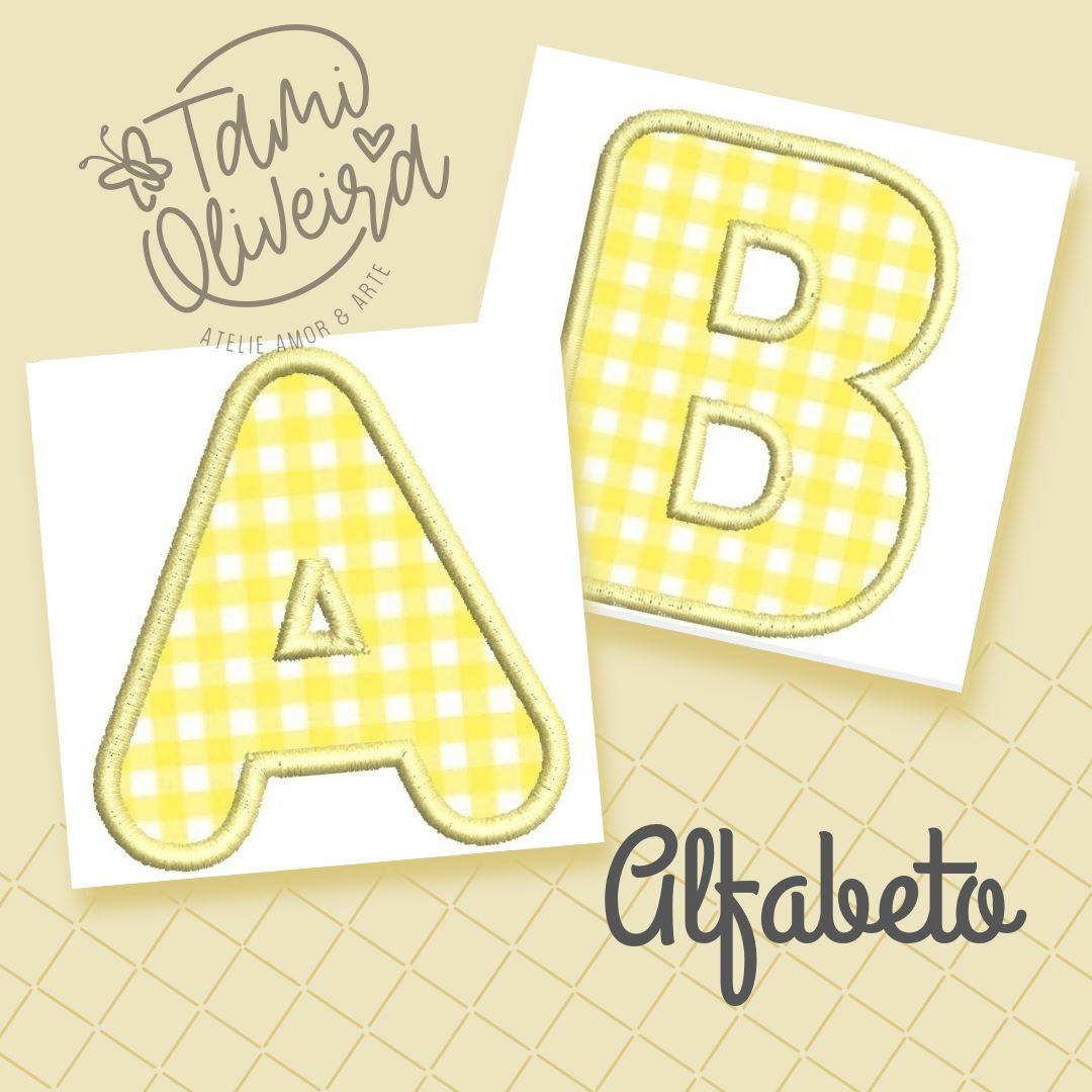 Matrizes de Bordado - Alfabeto Aplique