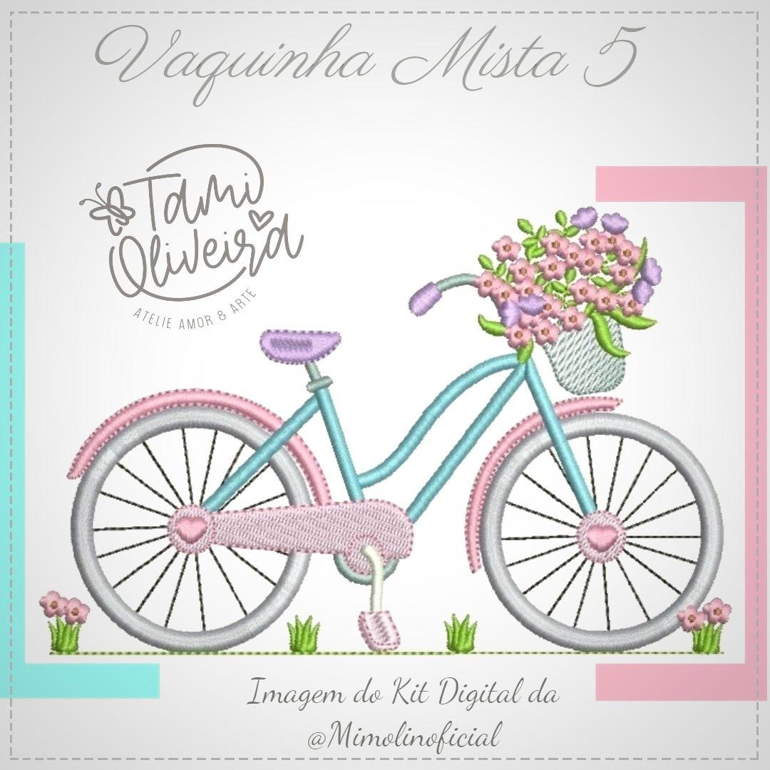 Matrizes de Bordado - Bicicleta Floral
